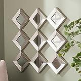 Diamante Mirrored Square Wall Sculpture