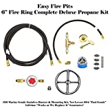 FR6CK+: Complete 6'' DELUXE Fire Pit Kit 316 Stainless Convert Existing Wood Fire Pit to Propane; Lifetime Burners all 316 Stainless (not Lessor 304). See EasyFirePits.com Gallery!