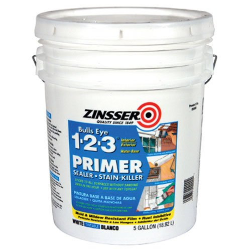 Zinsser 02000 Bulls Eye 1-2-3 Water-Based Primer, 5-Gallon Pail