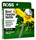Ross Tree & Shrubs Fertilizer Refills for Ross Root Feeder, 25-10-10 (Ideal for Watering During Droughts), 12 Refills