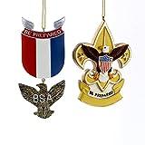 Boy Scouts OF America Eagle Badge And Fleur DE Lis Ornament (set OF 2)