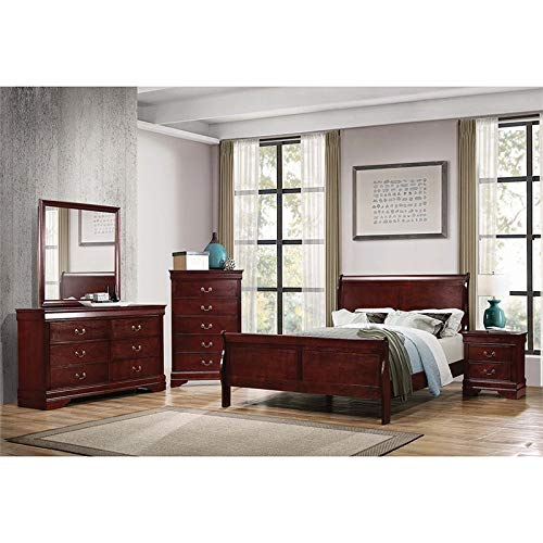 (Coaster Louis Philippe 4 Piece Twin Sleigh Bedroom Set in)
