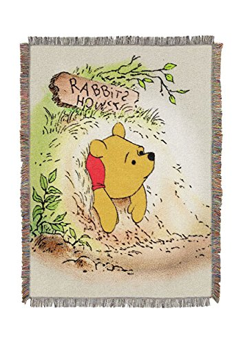 """Winnie the Pooh,""""Vintage Pooh"""" Woven Tapestry Throw for sale  Delivered anywhere in USA"""