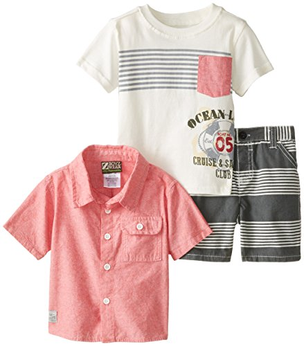 UPC 786332087116, Boyzwear Baby Boys' 3 Piece Woven Short Set, Red, 24 Months