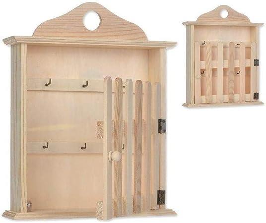 TrAdE shop www.tradeshopitalia.con - Caja Porta Llaves de Madera para Puerta RF_61645 Pared Llavero decoración: Amazon.es: Hogar