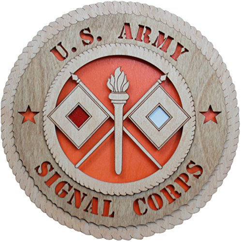 "11.3"" US Army Signal Corps Large Wooden Plaque"