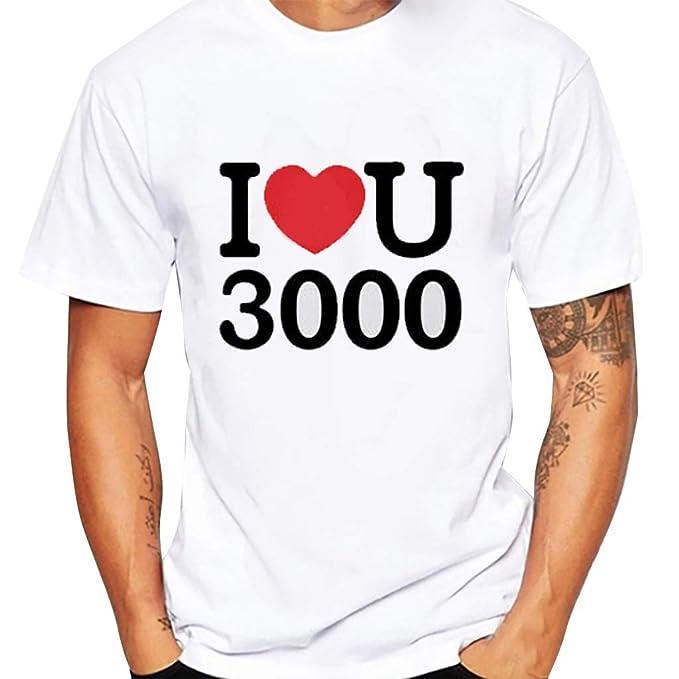 0c041db568 feiXIANG Magliette Maniche Corta Estate T-Shirt con Stampa Divertenti  Casual Collo Rotondo Maglietta Camicia di Moda Maglia Slim Fit Sportive Top  ...