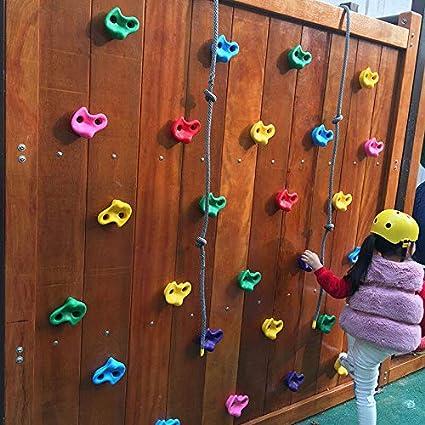 Starmood - 10 Piezas de Escalada para Montar en la Pared de Juguetes de Pared para niños en Interiores y Exteriores