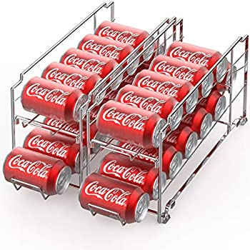 2-Pack Simple Houseware Front Loading Beverage Can Dispenser Rack