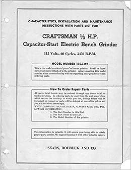 Pleasing 1946 Craftsman 115 7397 1 3 Hp Capacitor Start Electric Beatyapartments Chair Design Images Beatyapartmentscom