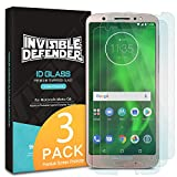 Motorola Moto G6 (2018) Tempered Glass Screen Protector - Ringke Invisible Defender [3-Pack] Case Compatible Ultimate Clear Shield, High Definition Quality, 9H Hardness Technology