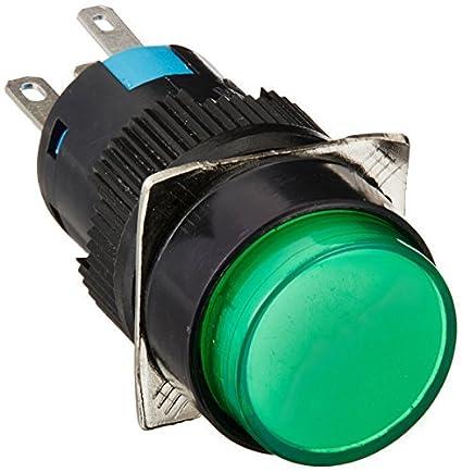 DealMux DC 24V Lamp SPDT pressão momentânea botão do interruptor
