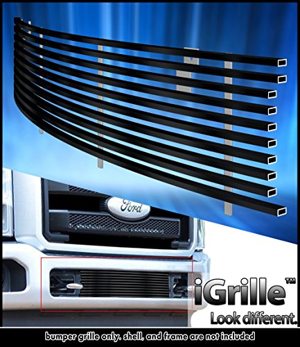 eGrille Fits 2011-2014 Ford F-250/F-350 SD Bumper Black Stainless Billet Grille (F250 Billet Grille Bumper)