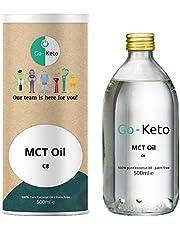 Go-Keto MCT Oil C8, 500 ml | Premium MCT OLIE C8, 100% palmolievrije kokosolie | perfect voor het keto-dieet | ideale voor bulletproof koffie of keto shake | Paleo, vegan, koolhydraatarm