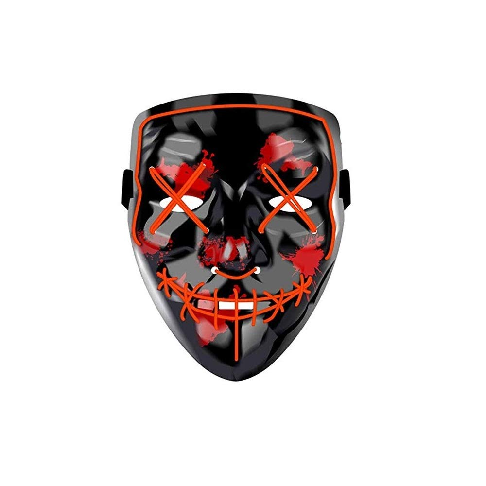 ویکالا · خرید  اصل اورجینال · خرید از آمازون · Halloween LED Mask Scary Costume Festival Cosplay Masks for Adults Kids Men Women (Red V) wekala · ویکالا