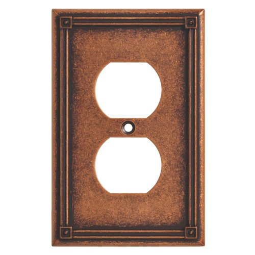 BRAINERD 135766 Ruston Single Duplex Outlet Wall Plate / Switch Plate / Cover