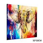 Baorin Elephant Painting on Canvas Frameless Wall Art Prints Pictures Computer Inkjet Painting Home Decoration Paintings