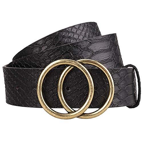Women Leather Belt Jeans...