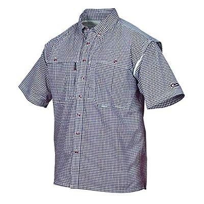 Drake Wingshooter Short Sleeve Gingham Plaid Shirt - Maroon