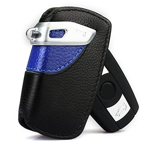 Sport Line Key Case FOB Holder Fits BMW 2 3 5 Series Black and Blue