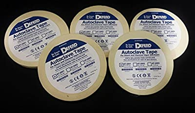 """5 Rolls of Autoclave Tape 1/2"""" 60YD Per Roll (300yd total)"""