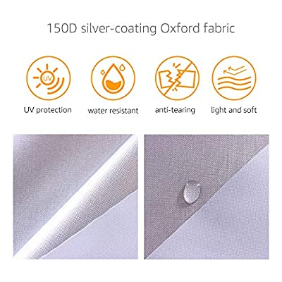 Basics Silver Weatherproof Car Cover - 150D Oxford, SUVs up to 190