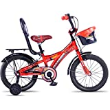 Hero Disney 16T Cars Junior Cycle With Carrier  8.5-inches (Red)