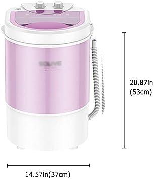 portable washing machine Lavadoras Portatiles/Mini Lavadora/Lavadora Pequeña/Secadora Portatil/Bajo Consumo Energético Y De Agua • Lavadora para Camping • Ideal para Estudiantes, Purple: Amazon.es