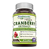Cheap Pure Naturals Cranberry Extract, 475 mg 120 Capsules – Promotes Kidney Function – Helps Clean & Protect Urinary Tract – Helps Maintain Bladder Integrity