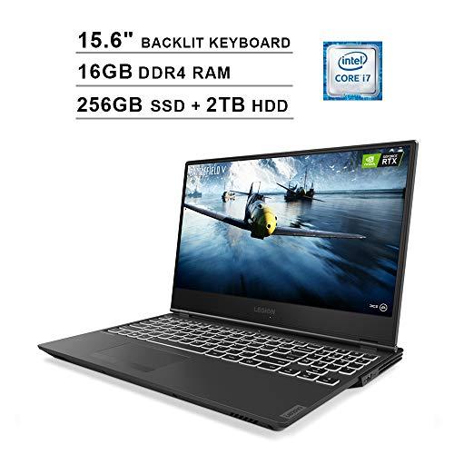2020 Lenovo Legion Y540 15.6 Inch FHD 1080P Gaming Laptop, Intel 6-Core i7-9750H up to 4.5 GHz, GeForce GTX 1660 Ti 6GB, 16GB DDR4 RAM, 256GB SSD (Boot) + 2TB HDD, Backlit KB, WiFi, HDMI, Windows 10