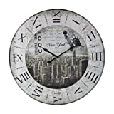 Sterling Home Wood New York, New York Statue of Liberty Clock For Sale