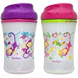 Gerber Graduates Advance Developmental Insulated Cup Like Rim Sippy Cup in Assorted Colors and Patterns, 9-Ounce