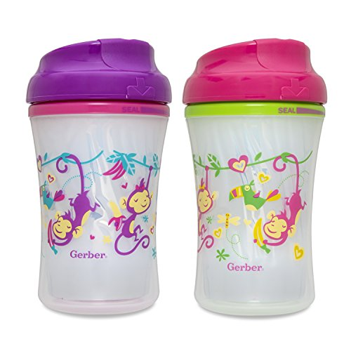Gerber Graduates Advance Developmental Insulated Cup Like Rim Sippy Cup in...