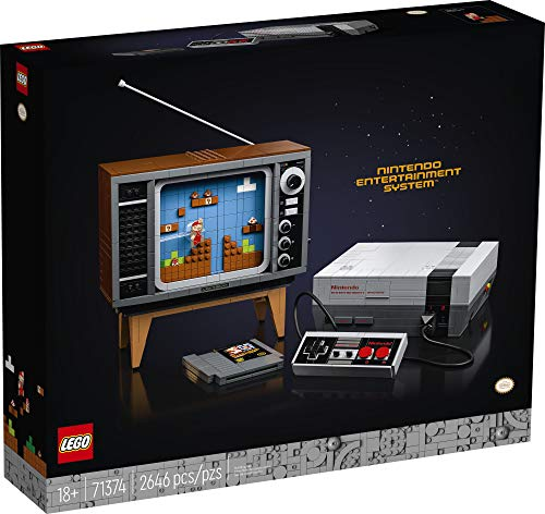 LEGO Nintendo Entertainment System 71374 Building Kit; Creative Set for Adults; Build Your Own NES and TV, New 2021 (2…