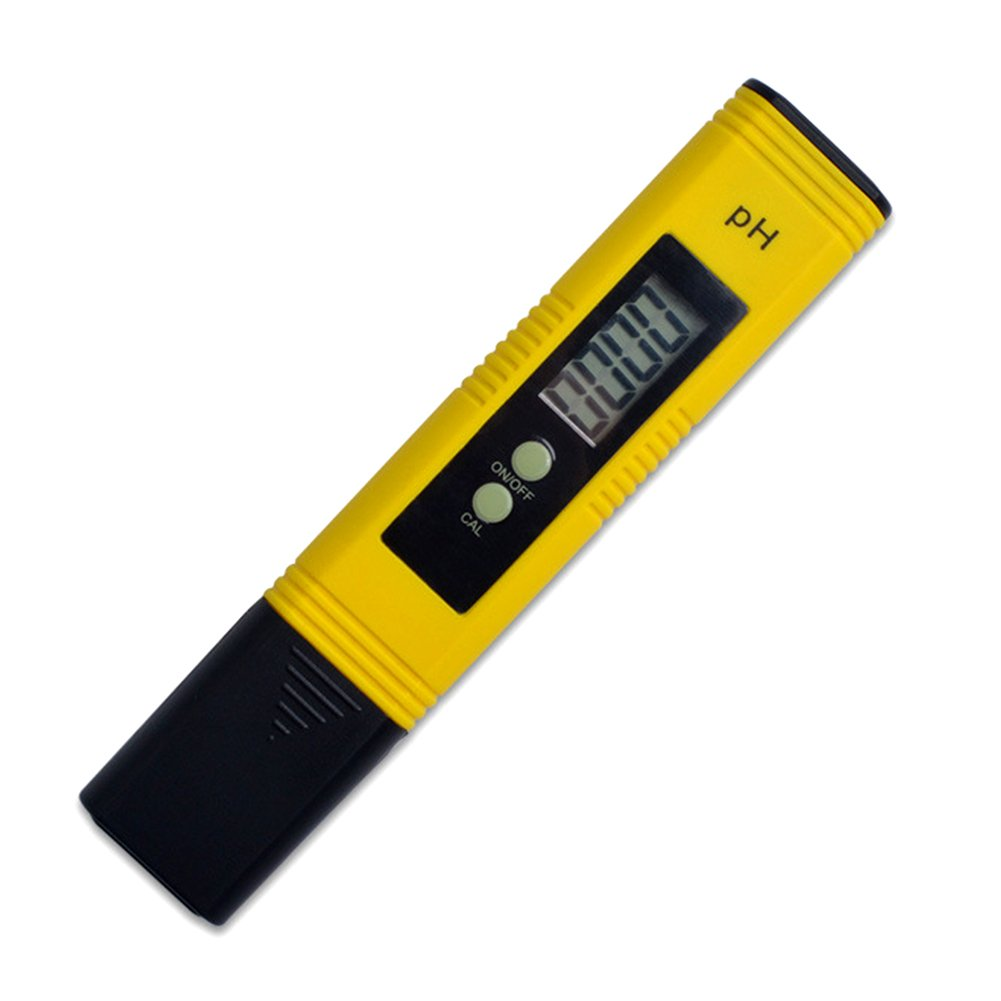 Carole4 PH Meter Tester, Portable Acidometer Digital PH Meter Tester Large LCD Display, Measuring Range Ph:0.00~14.00 Water Quality Food Aquarium Pool Hydroponics Measurement Range