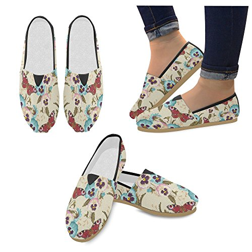 Impronte Digitali Rock And Roll Musica Mocassini Hipster Scarpe Casual Per Donne Vintage Pansy Seamless 2