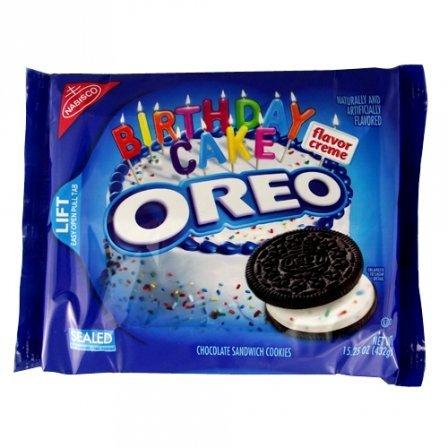 OREO Birthday Cake Creme 15.25 OZ 432g (Pack of 2) ()