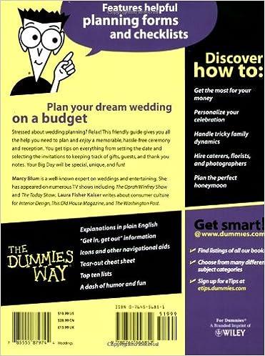 Wedding Planning For Dummies: Marcy Blum, Laura F. Kaiser ...