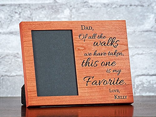 2 Sizes Available - Custom Dad Wedding Frame, Personalized Wedding Gift for Parents, Thank You Parents, Of All The Walks