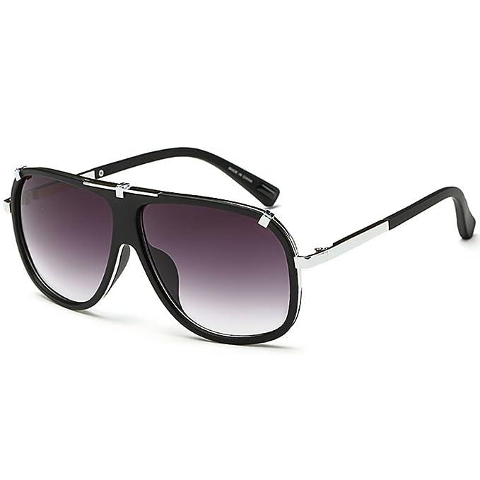Occhiali da Sole Unisex Massima Protezione UV 400 Retrò Occhiali Da Sole oro pilota Vintage Specchio I76LRWXq