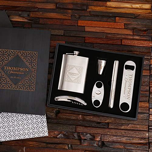 (Gentleman's Steel Bar and Cigar Gift)