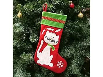 Ari_Mao Calcetines de Navidad para Gatos de Mascotas Calcetines de Navidad para Regalos de decoración de Regalos: Amazon.es: Hogar
