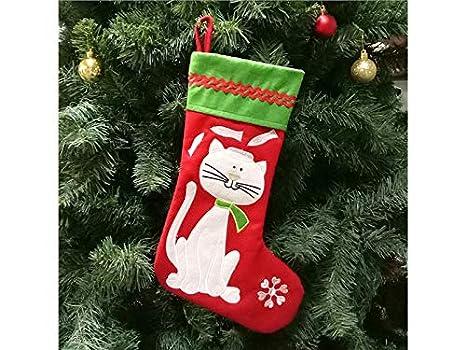 HOUHOUNNPO Calcetines de Navidad para Gatos de Mascotas Calcetines de Navidad para Regalos de decoración de Regalos: Amazon.es: Hogar