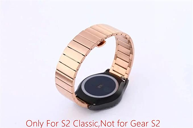 Samsung Gear S2 Classic SM732 Replacement Watch Band, DAYJOY Premium Stainless Steel Metal Links Bamboo style Watch Strap Bracelet Wrist Band for ...
