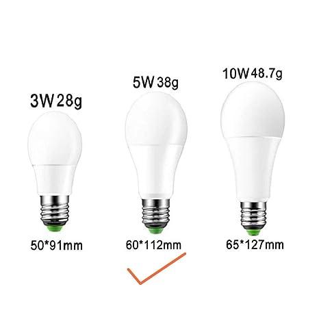DSstyles E27 - Bombilla LED de Intensidad Regulable, 85 – 265 V, IR con