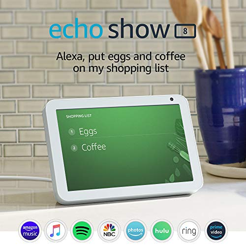 Echo Show 8 (1st Gen, 2019 release) -- HD smart display with Alexa – stay connected with video calling - Sandstone