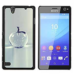 Cristal de Apple Bastante gris minimalista- Metal de aluminio y de plástico duro Caja del teléfono - Negro - Sony Xperia C4 E5303 E5306 E5353