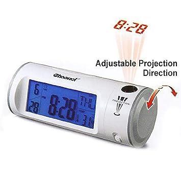 JALAL Despertador Proyector, Reloj Despertador con Alarmas Duales ...