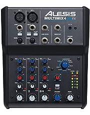 Alesis Multimix 4 USB FX Mezclador de 4 canales con interfaz de audio USB Efectos