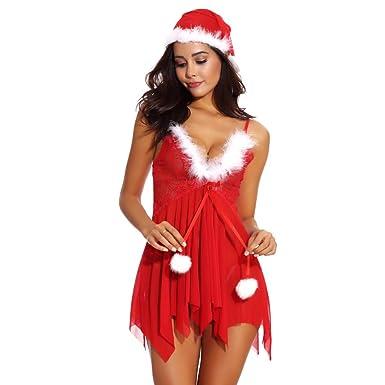 JERFER Blusa Navidad Sombrero Ropa Interior Mujeres De La Moda ...